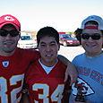 Dallman, H-wang, and Ben (pre-face paint)